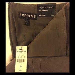Express dark beige/gray pencil skirt